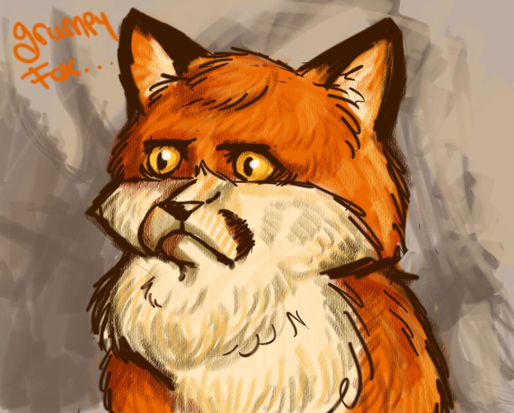 Grumpy Fox by ChristianKitsune