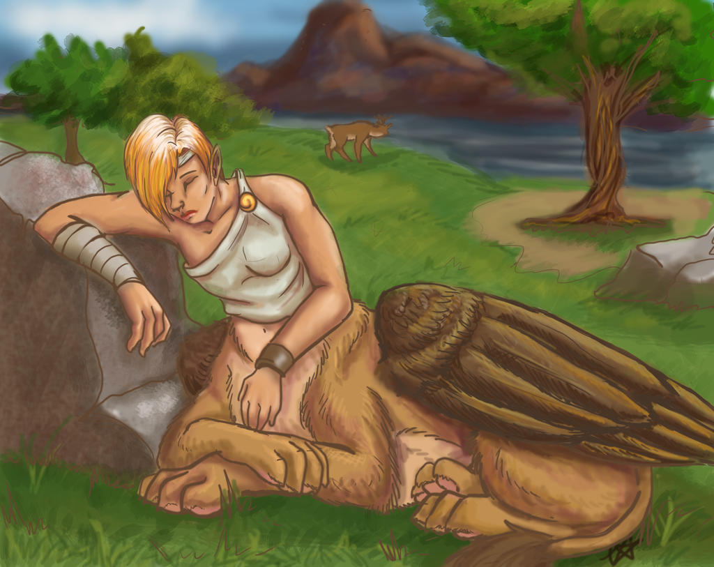 Resting Mythos by ChristianKitsune
