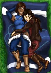 Korra and Asami Cuddles