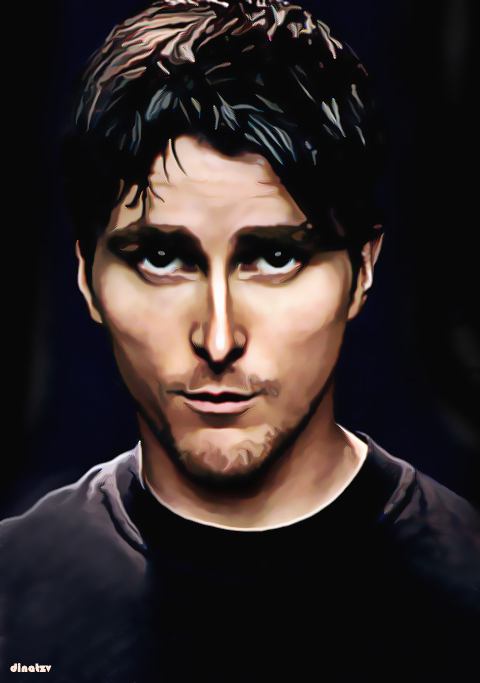 Christian Bale Caricature by dinatzv