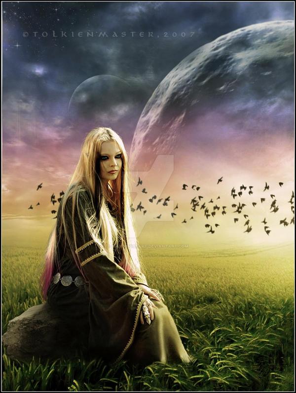 Elven Priestess by EmberRoseArt