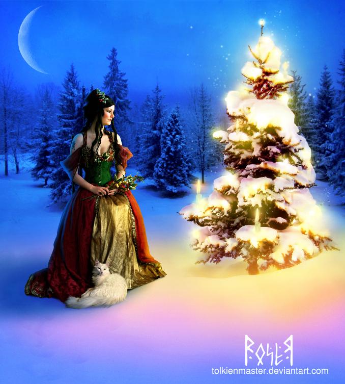 The goddess of Christmas by EmberRoseArt