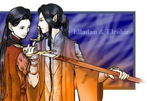Elladan and Elrohir by EmberRoseArt