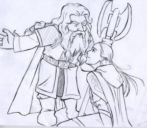 Gimli and Legolas at H.D.
