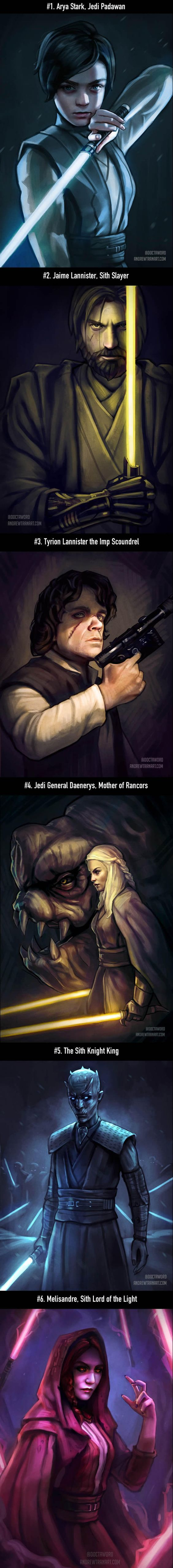 Game of thrones Characters in Star war