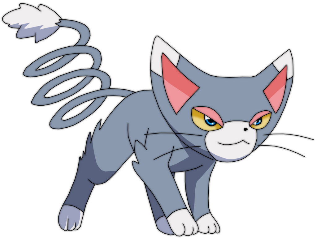 Black Cat Pokemon With Gold