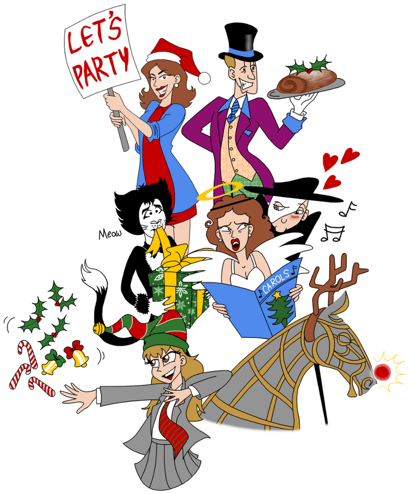 Really Useful Theatres Christmas Party Poster 2014 by LadyKeane