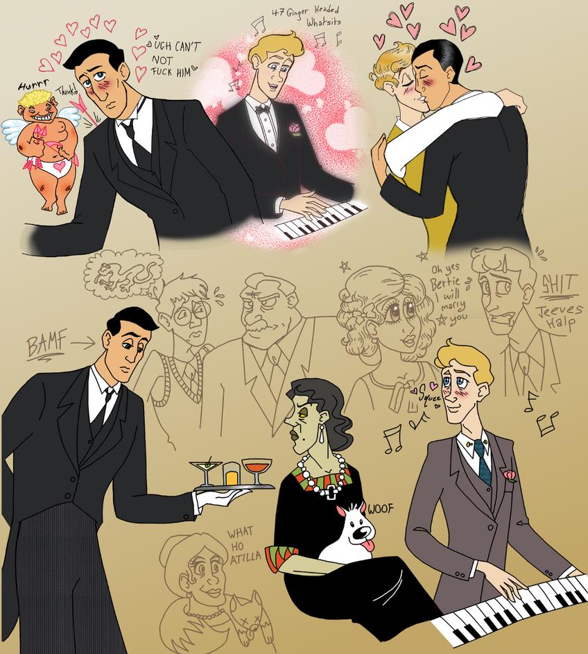 Terrible Jazz-Age Homoerotic Cheese Sketchdump by LadyKeane