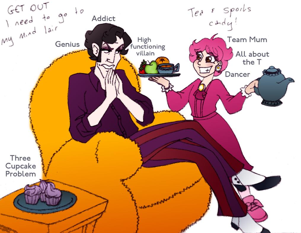 Sherobbie Holmes - Three cupcake problem by LadyKeane