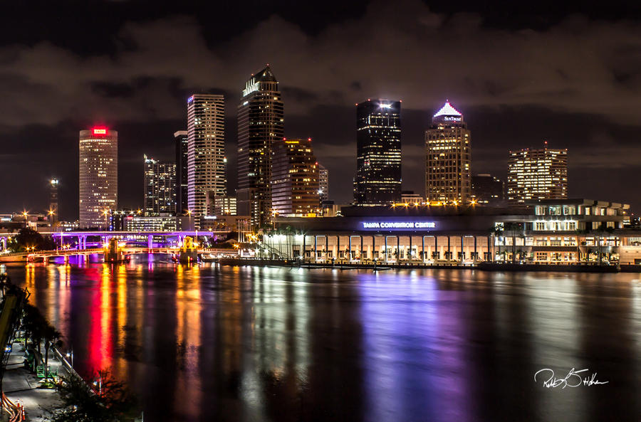 Tampa at Night by WatchTower513