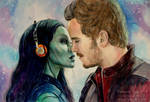Guardians of the Galaxy. Gamora, Peter Quill