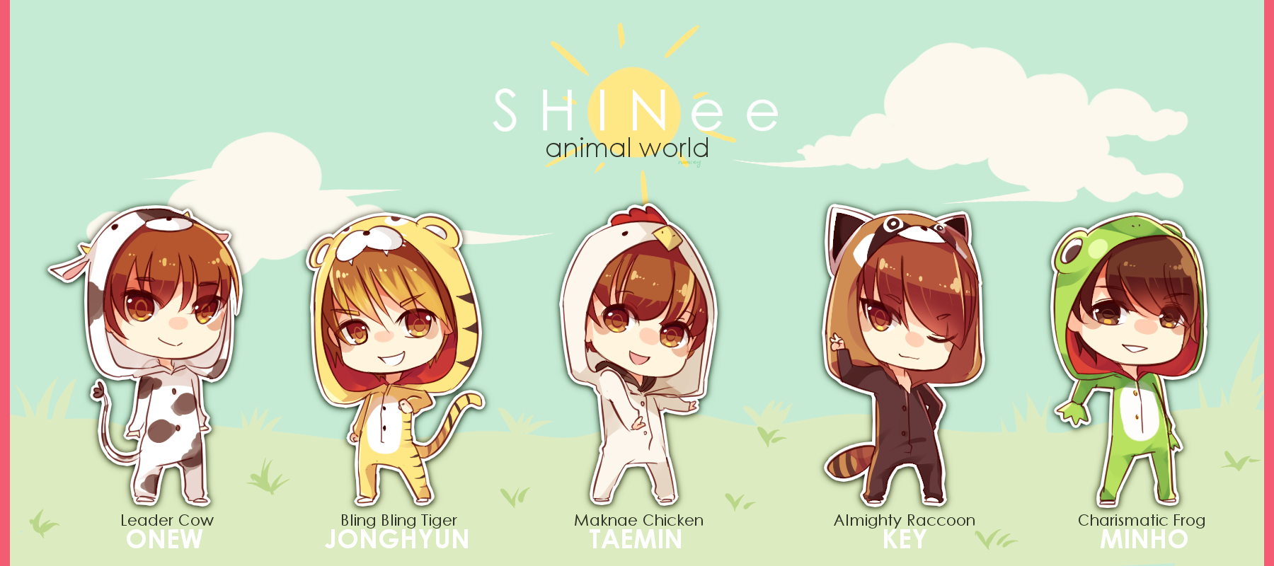 SHINee Animal World by Raeyxia on DeviantArt | 1800 x 800 png 590kB