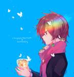 Chrysanthemum + Butterfly