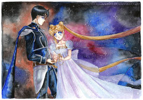 Prince and Princess Watercolor Space by Lucifer-Krusnik00