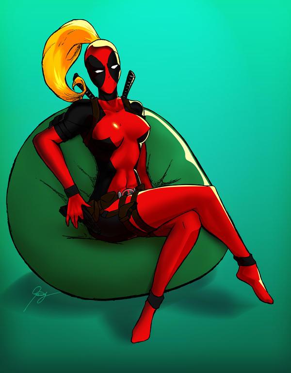 Lady Deadpool by pantaeba