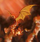 Fire elemental Wyvern