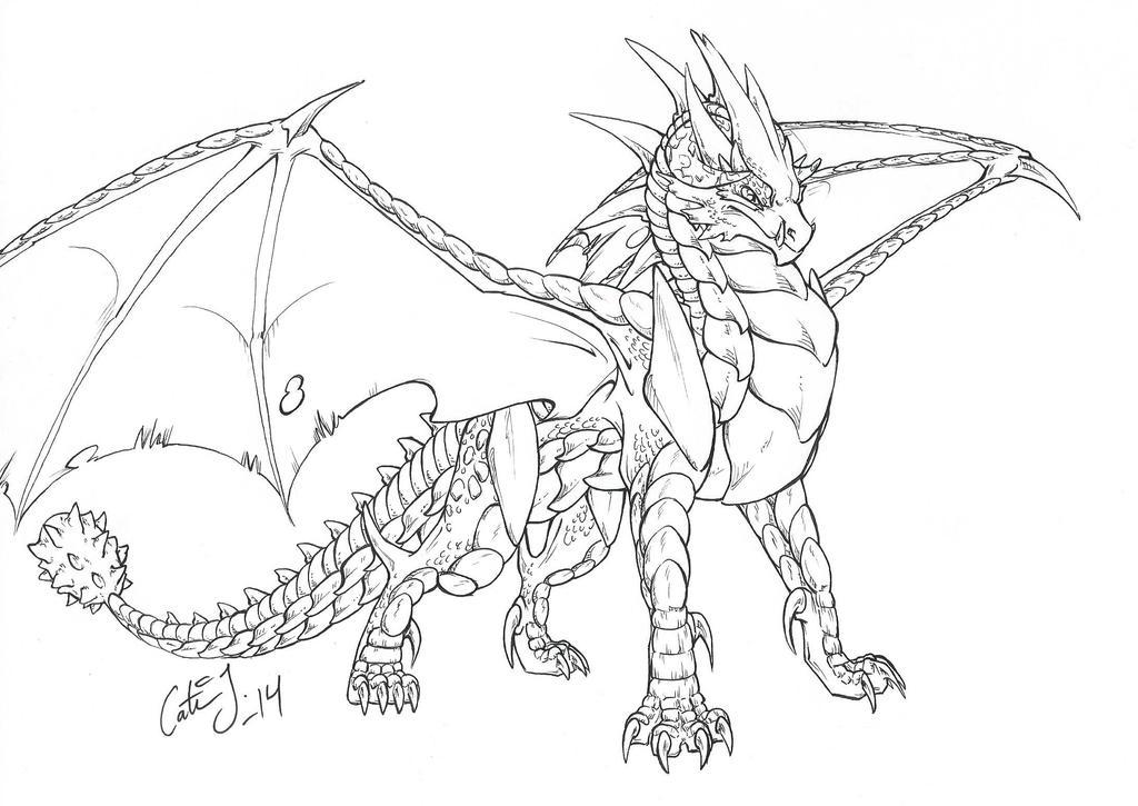 Armored Evil Dragon by KattCattis on DeviantArt