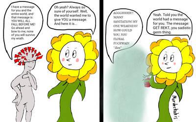 Coronavirus-chan vs. A Flower that Gives No Fucks