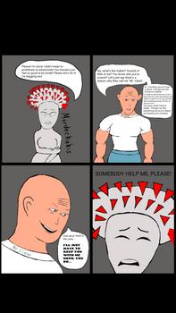 Coronavirus-chan vs. Mr. Clean