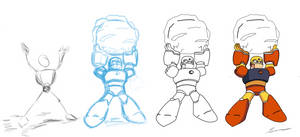 Gutsy Drawing Process WIP