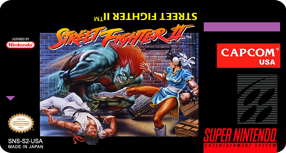 Label Street Fighter Ii Snes By Labelsnes On Deviantart