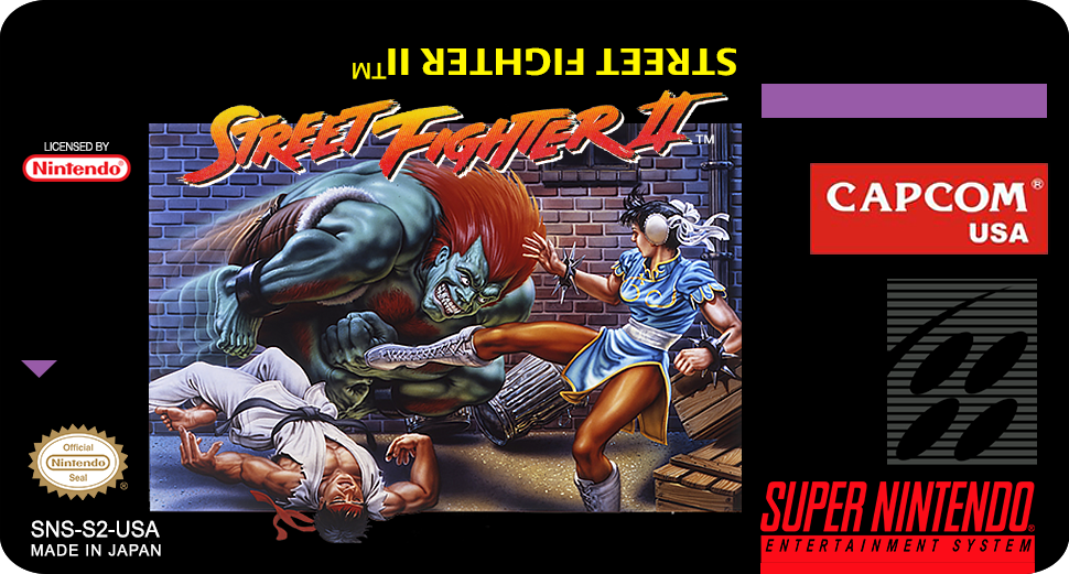 Label Street Fighter II snes by labelsnes on DeviantArt