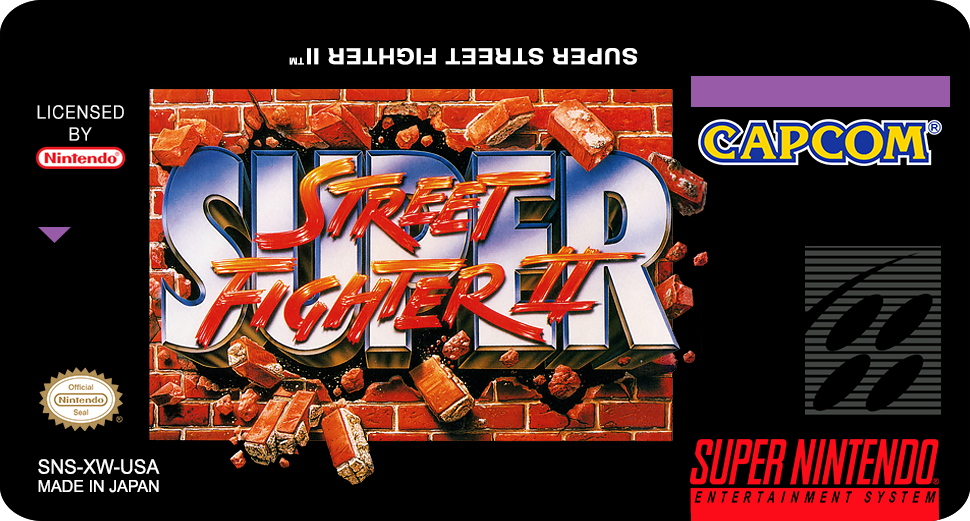 Label Street Fighter II - New Challengers snes by labelsnes