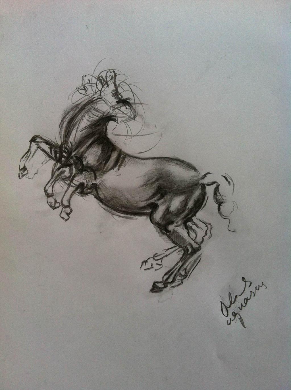 Rearing Horse - Leonardo da Vicni by Maheen-S