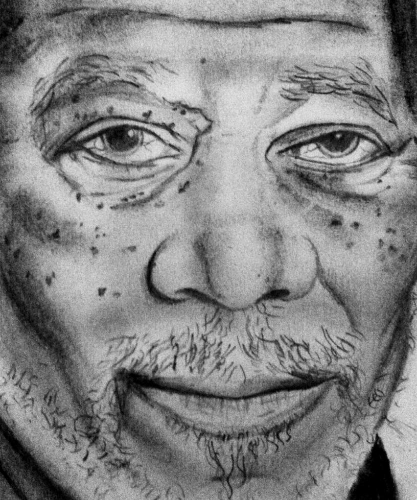 Morgan Freeman by Maheen-S