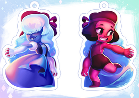 Ruby and Sapphire Charm