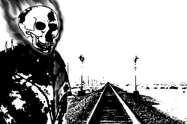 Ghost Rider at the Railroad by Mechaghostman2