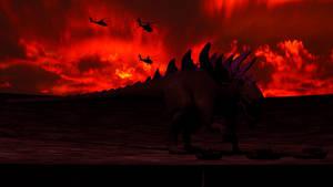 Godzilla 1998 vs Military (Blender Model) by Mechaghostman2