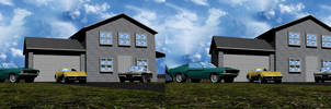 House And Cars Stereoscopic by Mechaghostman2