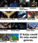 Kaiju Metal Genres