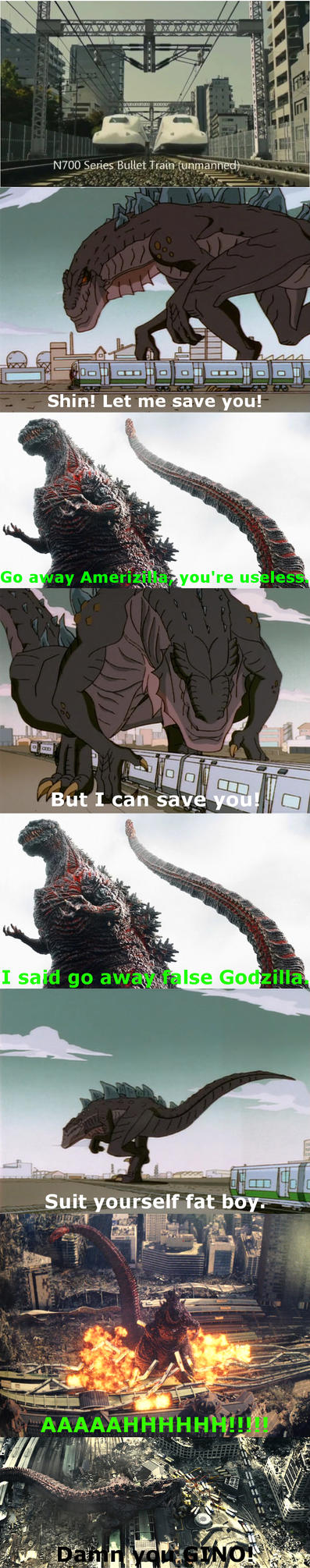 Shin vs. American Godzilla by Mechaghostman2