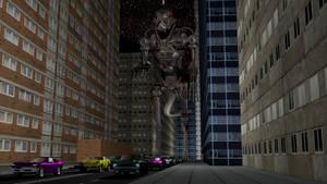 Godzilla Terminator in City by Mechaghostman2