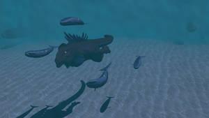 Godzilla 1998 Submerged by Mechaghostman2