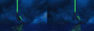 Godzilla 1998 (Stereoscopic) by Mechaghostman2