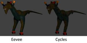 Billy Raptor (Eevee vs. Cycles) by Mechaghostman2