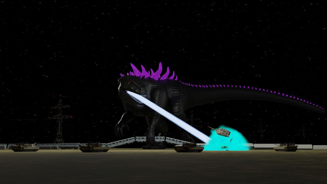 Godzilla 98 Being Badass by Mechaghostman2