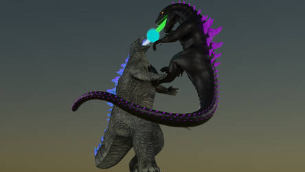 Godzilla 98 vs. 2014 by Mechaghostman2