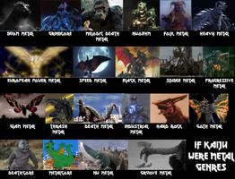 Kaiju Metal Genres by Mechaghostman2
