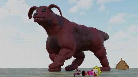 Clifford the Big Red Kaiju by Mechaghostman2