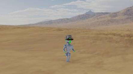 Robot With A Hat