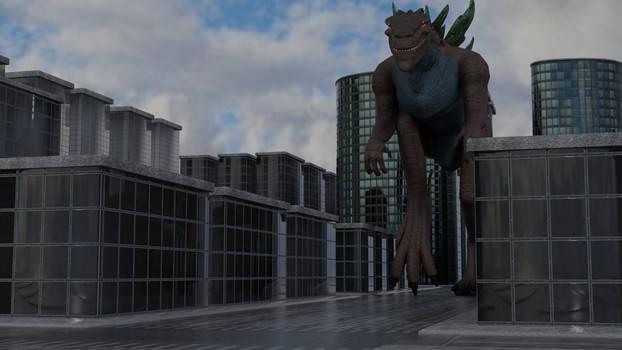 Godzilla 1998 in City