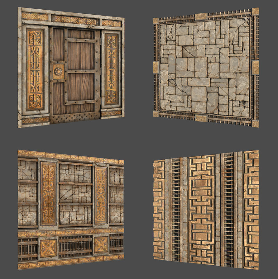 GameTextures Dwarven Set by Texelion