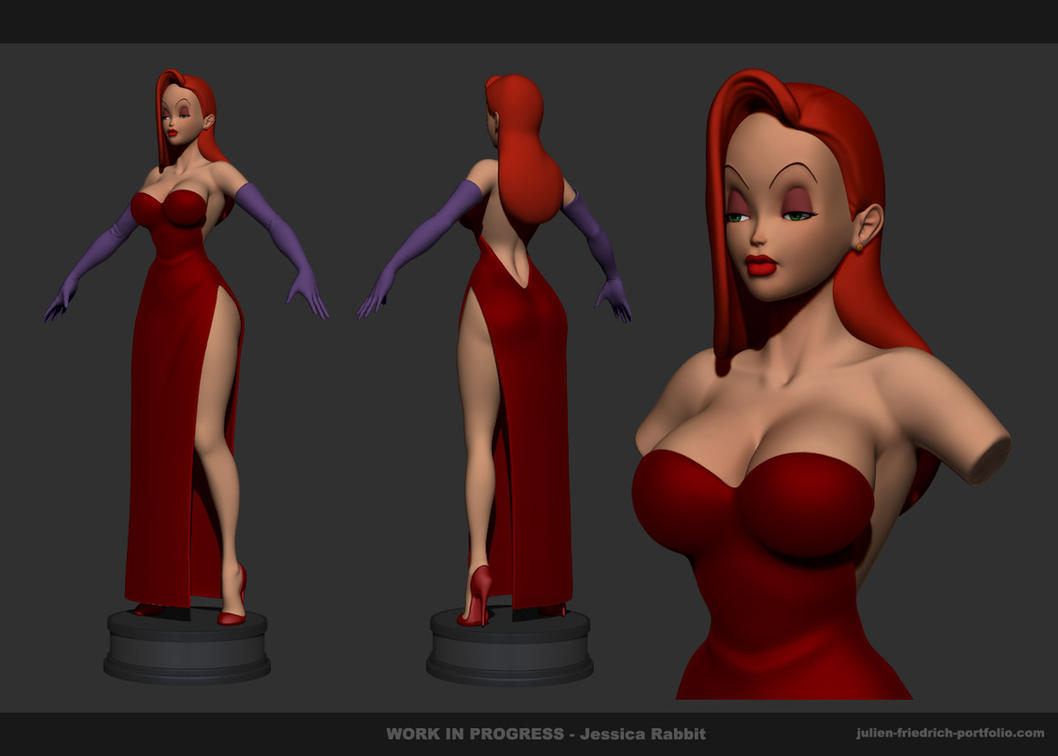 Jessica Rabbit Sculpt by Texelion