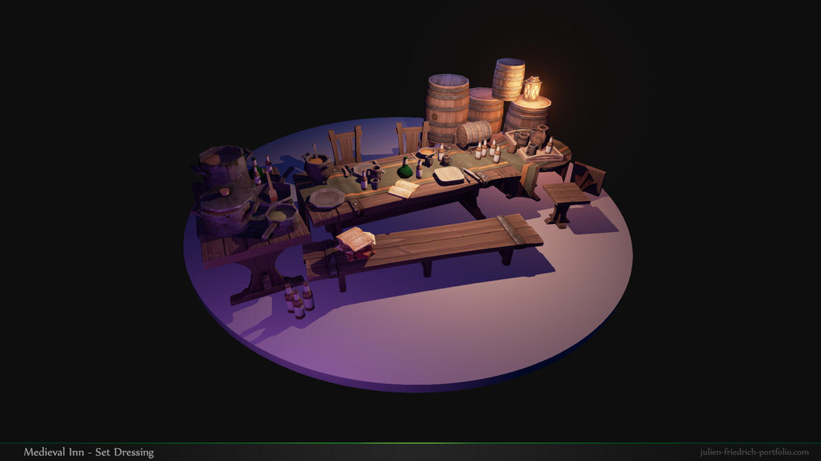 Medieval Inn Set Dressing 02 by Texelion