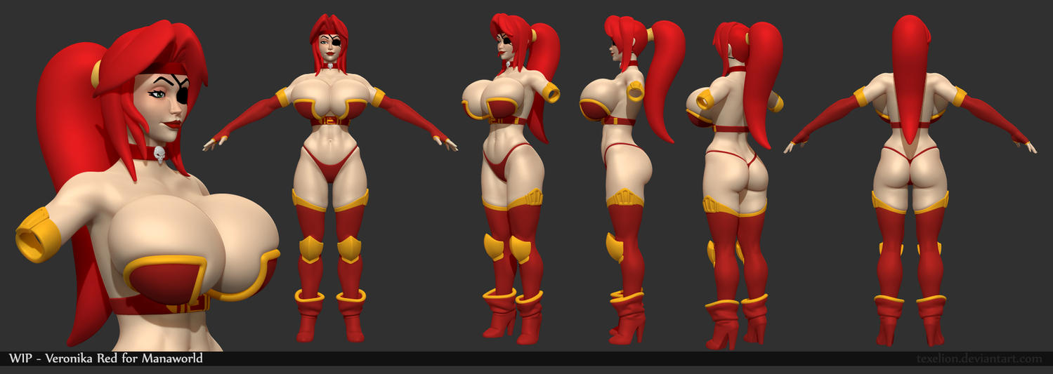 Veronika Red WIP02 by Texelion