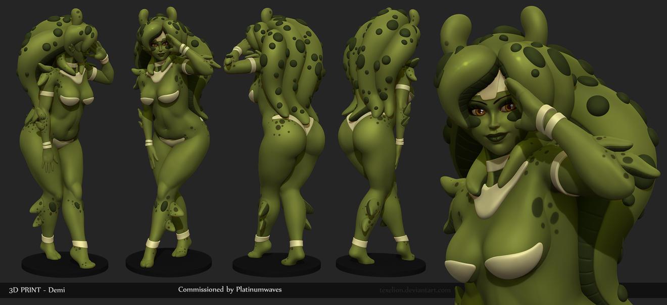 Demi 3D Print by Texelion